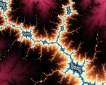 Mandelbrot image resembling electricity.