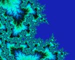 Mandelbrot image resembling a coastline.