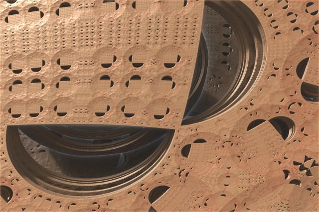 Mandelbox fractal image.